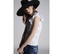 Cotton Jersey Ruffled T-Shirt