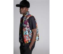 Graffiti Print Vest