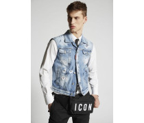 Light Blue Marks Denim Vest