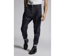 Denim 2 Pleats Pants