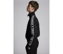Wool Stretch Bomber With Dsquared2 Tape On Sleeves