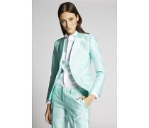 Silk Cotton London Notch Two Buttons Jacket