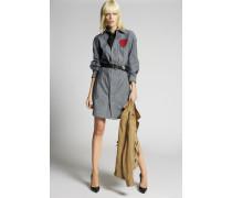 Heart Patch Denim Dress