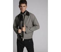 Stretch Wool Bomber Jacket