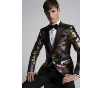 Silk Wool Camouflage Lamè London Blazer