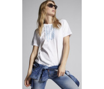 Ruffled Cotton T-Shirt