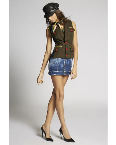 Scout Contrasted Denim Dress