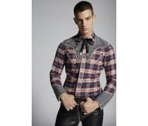 Check Cotton Fashion Western Hemd