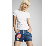 Denim Patches Cool Girl Shorts