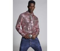 Sequins Fashion Western Hemd