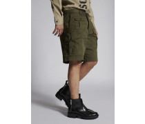 Cotton Boxer Shorts With Patch Pockets