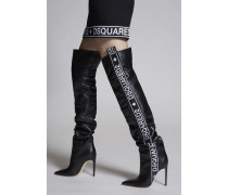 Bronx Hip Hop Dsquared2 Tape Heeled Boots