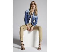 Stretch Twill Cotton Super Skinny Jeans