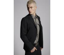 Chic Stretch Wool Werstern Details Blazer
