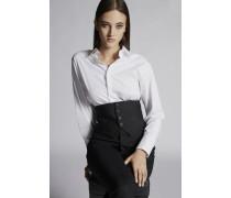 Cotton Poplin Cropped Hemd