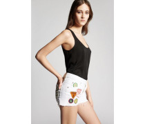 Bull Garment Dyed Patches Cool Girl Shorts