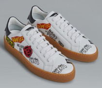 Red & Black Punk Rapper's Delight Sneakers