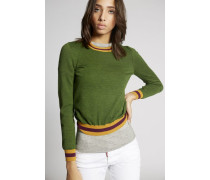 Wool Contrasted Pullover