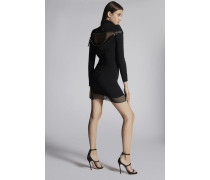 Stretch Viscose Crepe Debbie Back Zip Long Sleeves Dress