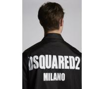 Nylon Coach Jacket With Dsquared2 Logo