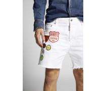 White Bull Square Crotch Shorts