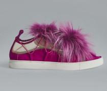 Bronx Hip Hop Riri Fur Slip-On Sneakers