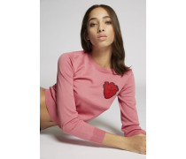 Heart Patch Knit Pullover