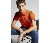 Stripes Wool Knit Polo Hemd