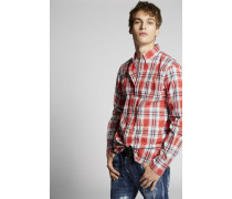 Cotton Check Button Down Hemd