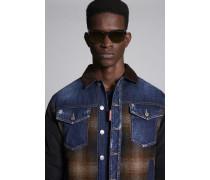 Mix Fabrics Bomber Jacket