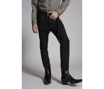 Chic Stretch Wool Western Pockets Hockney Pants