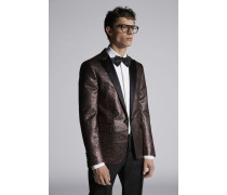 Leopard Jacquard Beverly Blazer With Satin Lapel