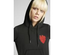 Heart Patch Hooded Sweatshirt