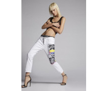 Garment Dyed Cool Girl Cropped Jeans