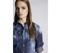 Medium Stormy Western Denim Hemd