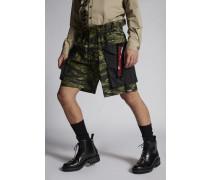 Military Cotton Dan Elastic Boxer Cargo Shorts