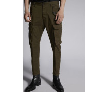 Stretch Cotton Twill Sexy Cargo Pants
