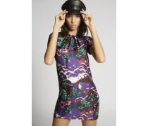 Printed Silk Twill Hawaiana Dress