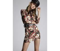 Hibiscus Silk Dress