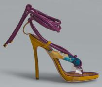 Sandalen mit Absatz Violett