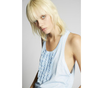 Ruffled Cotton Tank Top