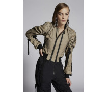 Tulle Layered Sparrowhawk Bomber Jacket