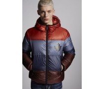 Multi Color Puffer Hooded Jacket