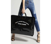 Twins Power Large Tote Bag