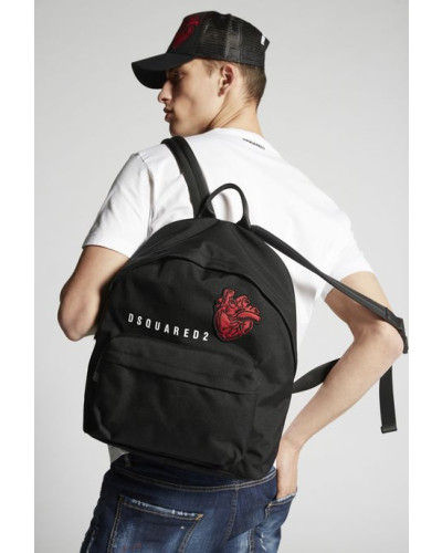 Dsquared2 Herren Bad Scout Heart Patch Backpack Limitierte Auflage DUbwte