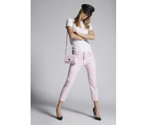 Stretch Twill Cotton Cool Girl Cropped Jeans
