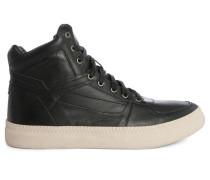 Schwarze Sneaker mit weißer Sohle Spaark