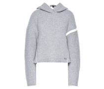 Oversize Spacer Wool Cropped Hoodie