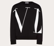 """Valentino Uomo Rundhalssweatshirt mit Grossem """"vltn""""-print S"""