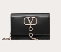 Valentino Garavani Kleine Tasche Vcase aus glänzendem Kalbsleder